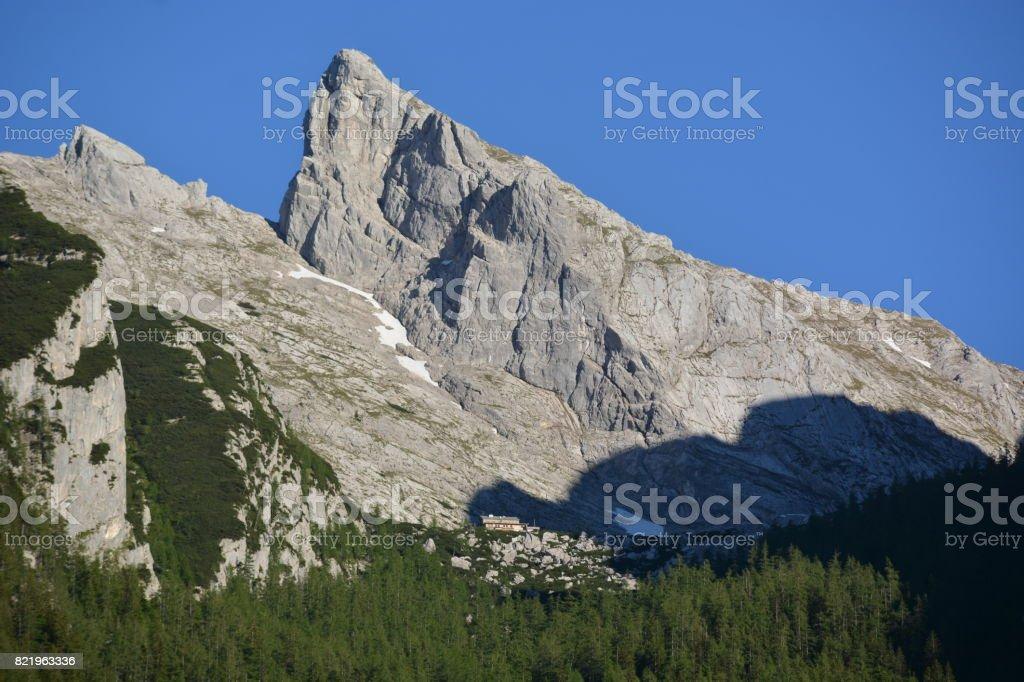 Bavarian Alps with Hochkalter stock photo