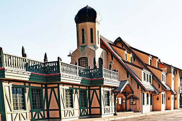 bavarian architectural features leavenworth washington - leavenworth washington stock photos and pictures