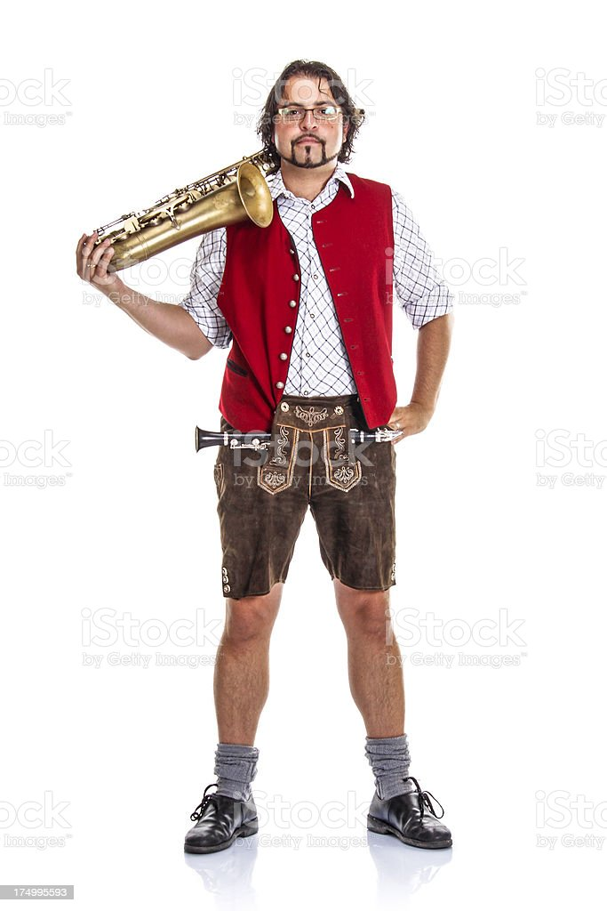 Bavarian / Austrian Musician royalty-free stock photo