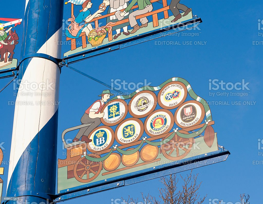 Bavarian Beer Brands stock photo