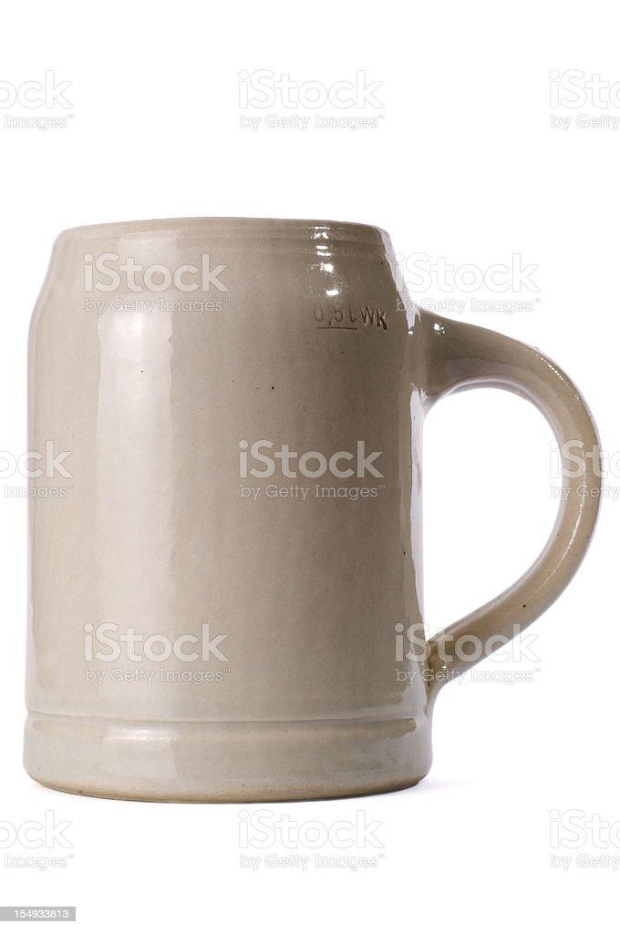 Bavarian Beer Mug isolated on white stock photo