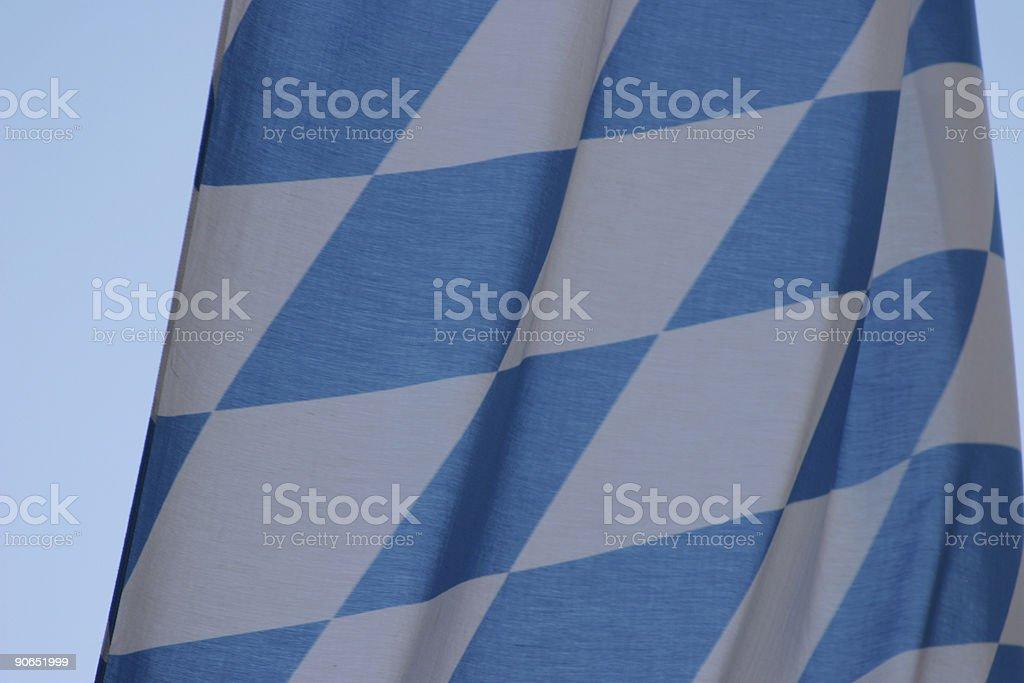 Bavarian blue white flag royalty-free stock photo