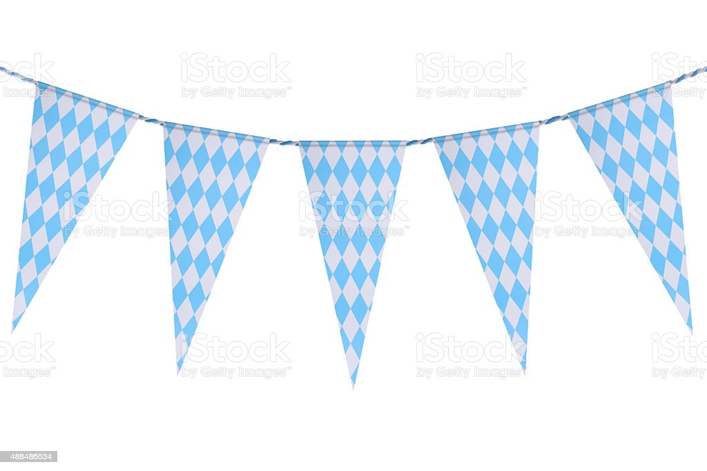 Bavarian bunting festoon stock photo