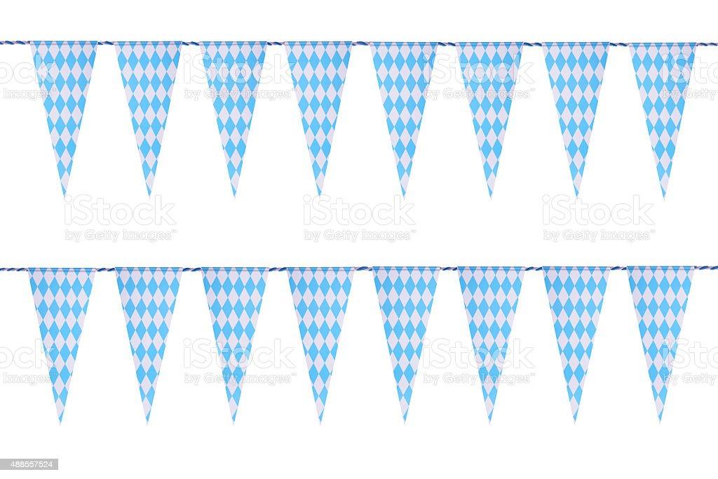 Bavarian bunting festoon stock photo