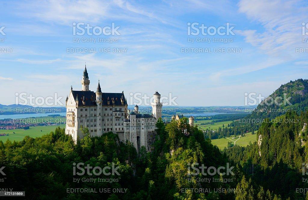 Bavarian Castle Neuschwanstein stock photo