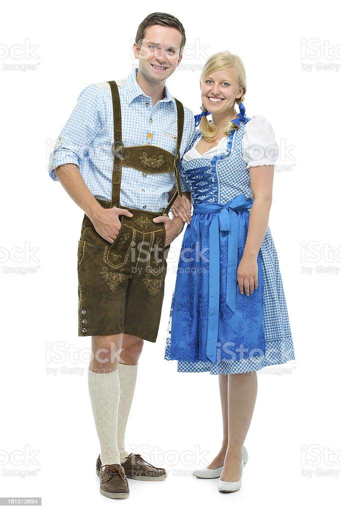 Bayerische Paar im dirndl – Foto