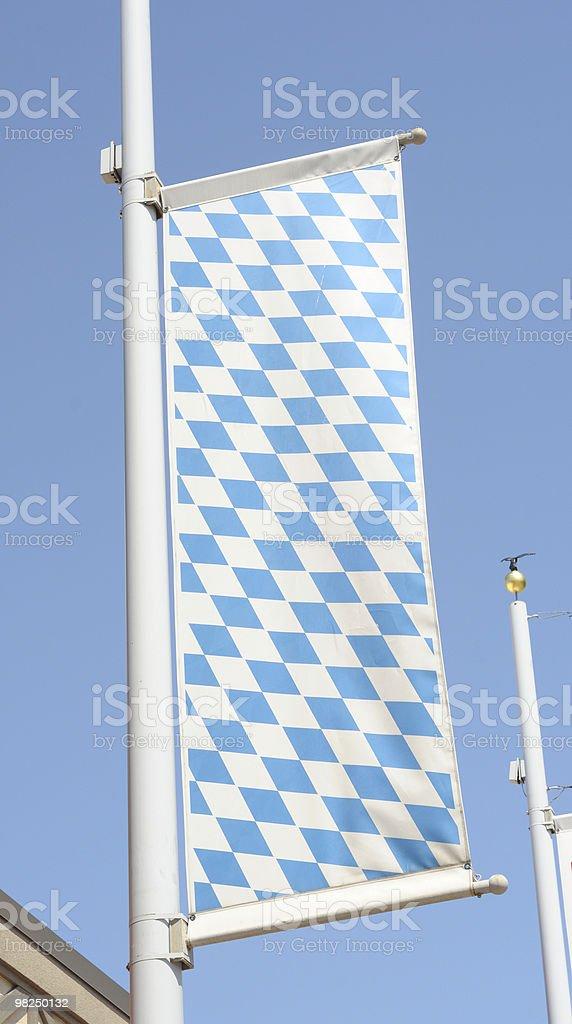 Bavarian Flag, Frankenmuth, Michigan royalty-free stock photo