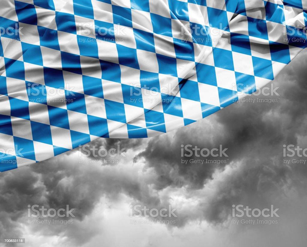 Bayerische Flagge an einem schlechten Tag – Foto
