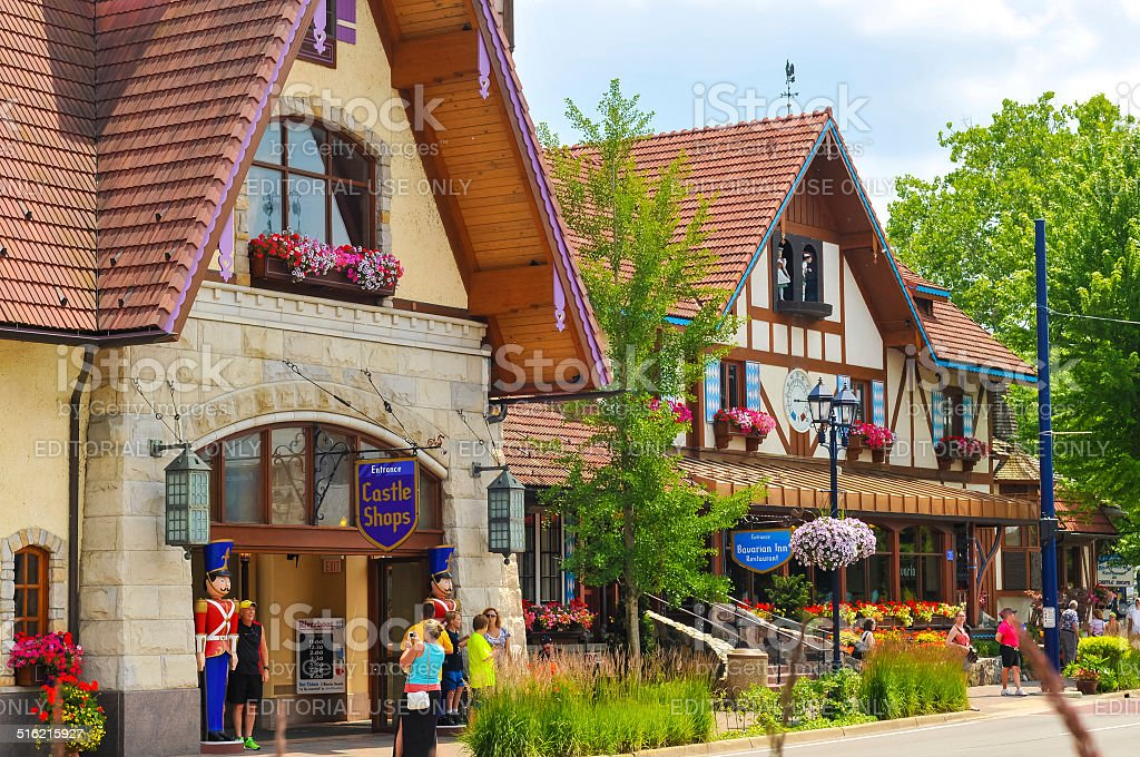Bavarian Inn stock photo