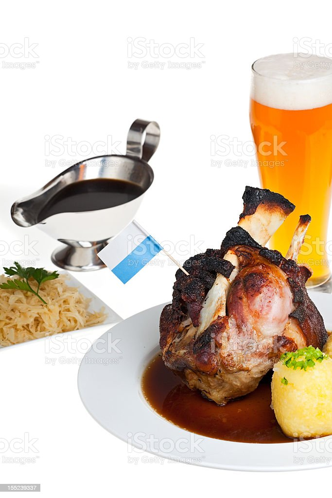 bavarian knuckle of pork royalty-free stock photo