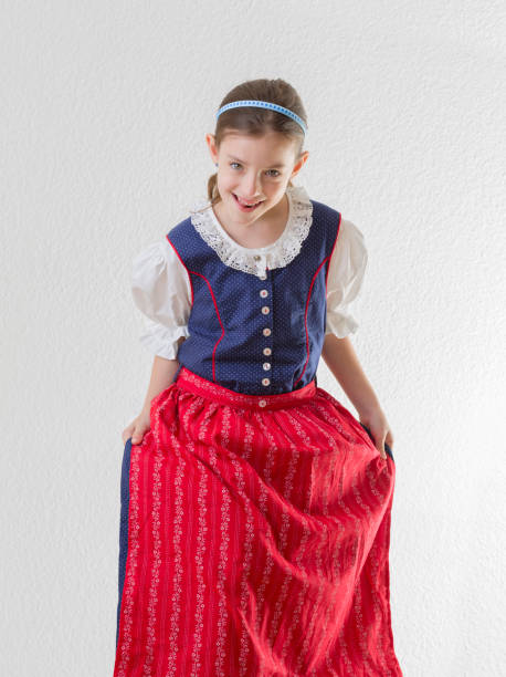 bb0085269d35 Bavarian Little Girl In Traditional Dress Dirndl Dancing Stock Photo & More  Pictures of 6-7 Years - iStock