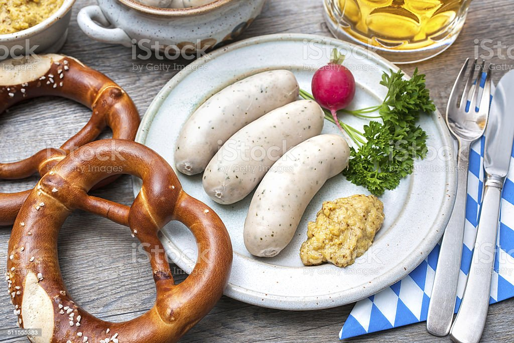 Bavarian meal stock photo