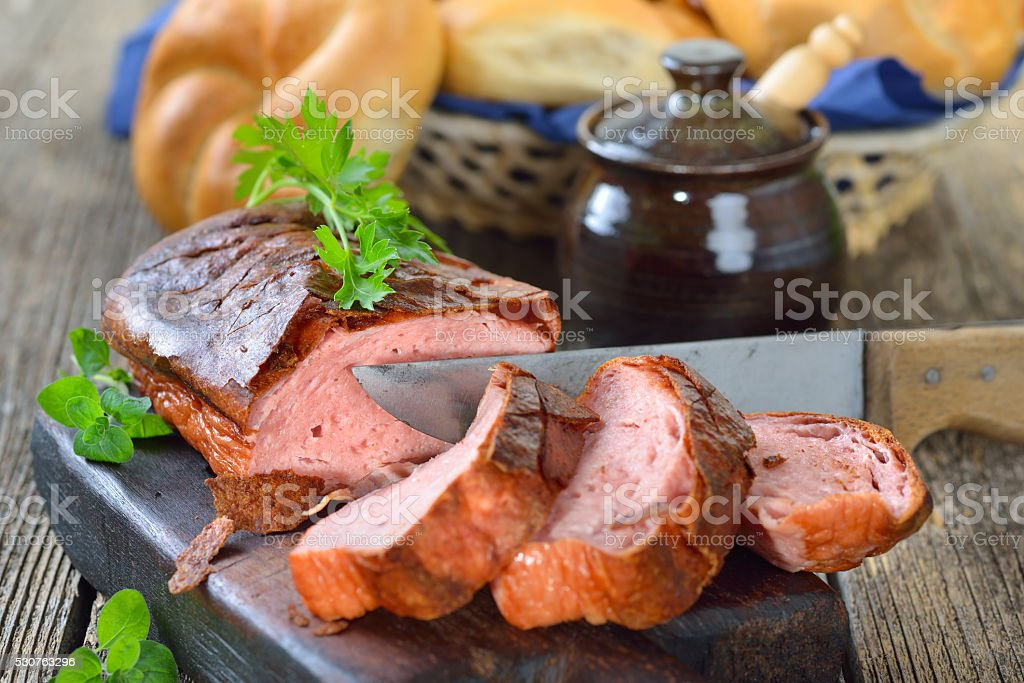 Bavarian meat loaf stock photo