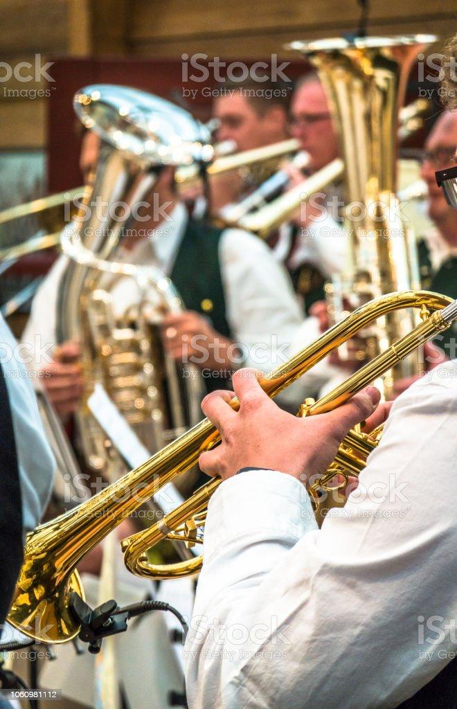 bavarian musician stock photo