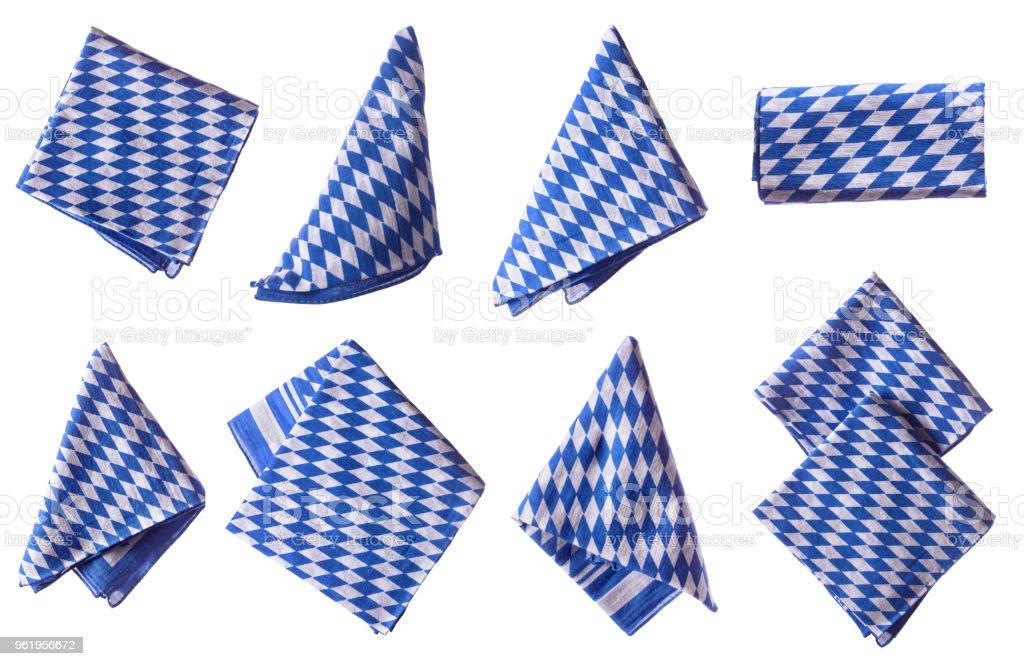 Bavarian napkins isolated стоковое фото