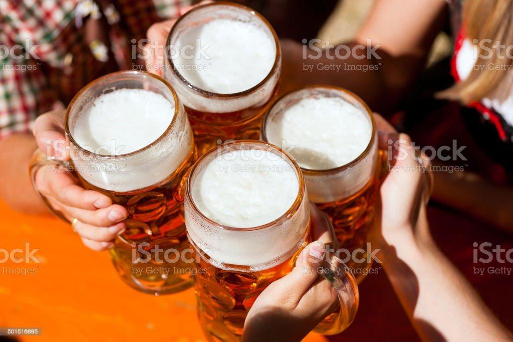 Bavarian party stock photo