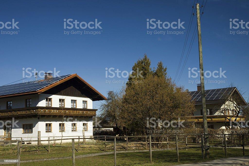 bavarian photovoltaic istallation royalty-free stock photo