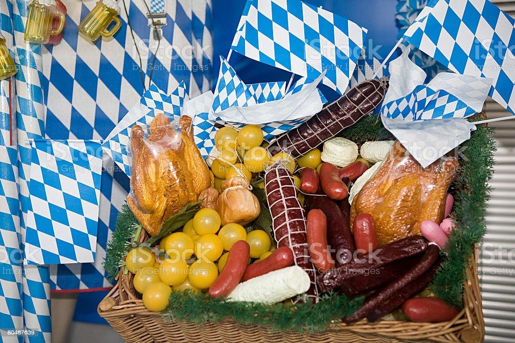 Bavarian picnic basket 免版稅 stock photo