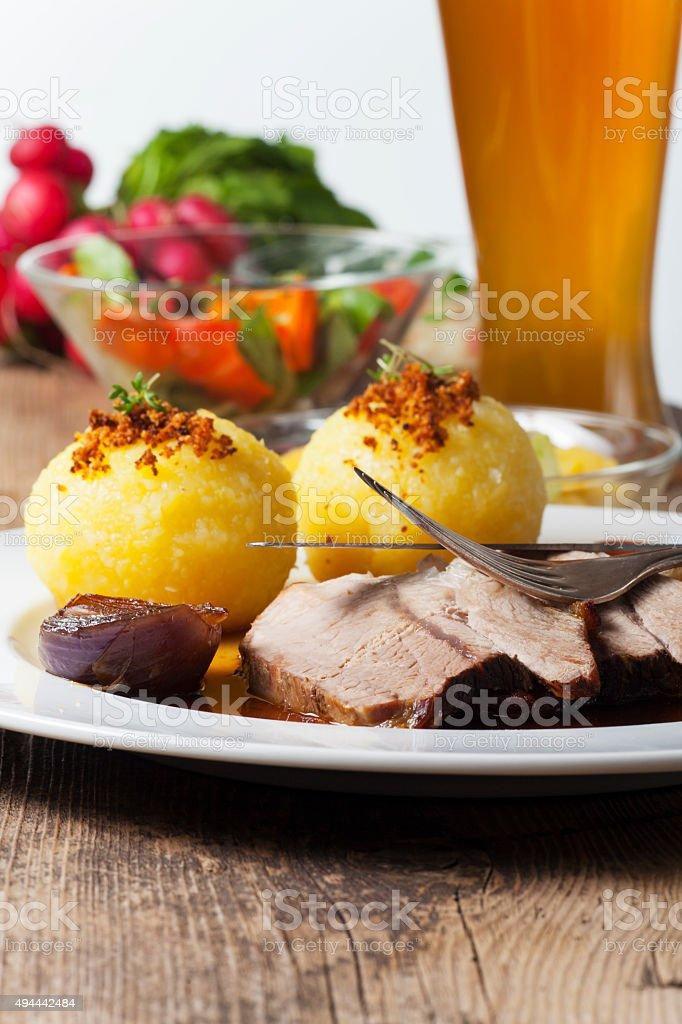 bavarian pork meat stock photo
