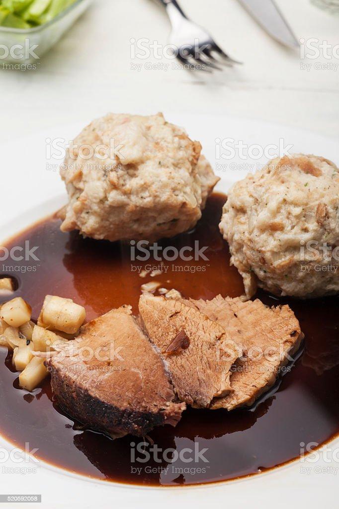 bavarian roasted pork stock photo