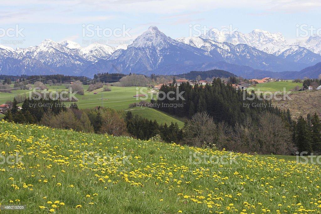 Bavarian scenery stock photo