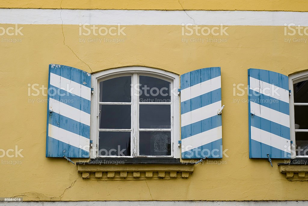Bavarian shutters royalty-free stock photo