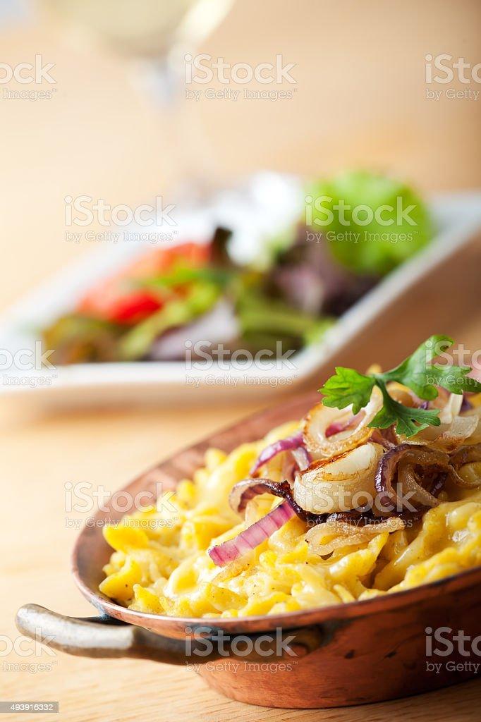 bavarian spaetzle noodles stock photo