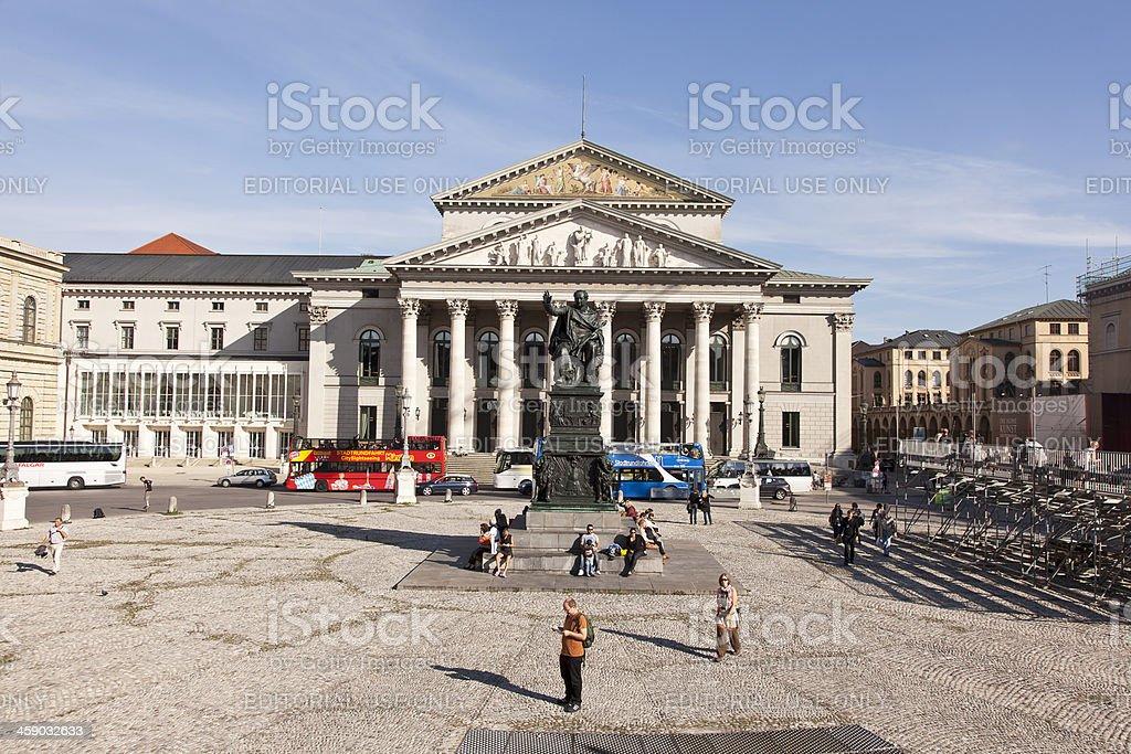Bavarian State Theatre stock photo