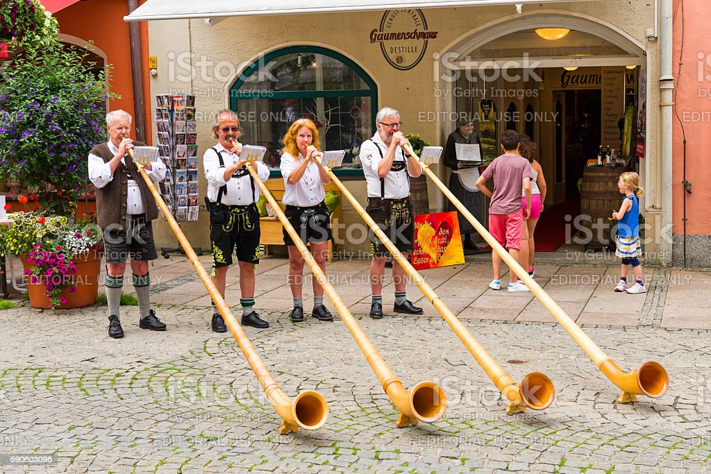 Bavarian Street Musicians stock photo