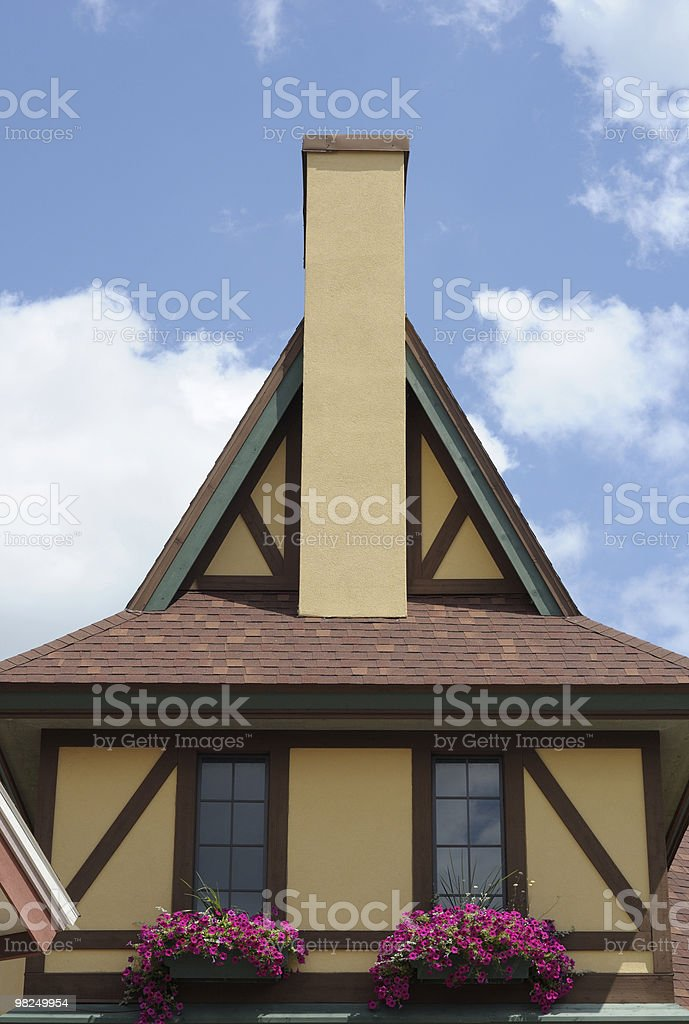 Bavarian Style House, Frankenmuth, Michigan royalty-free stock photo
