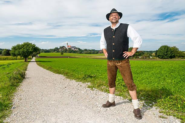 bayerische traditionelle kleidung - bayerische tracht stock-fotos und bilder