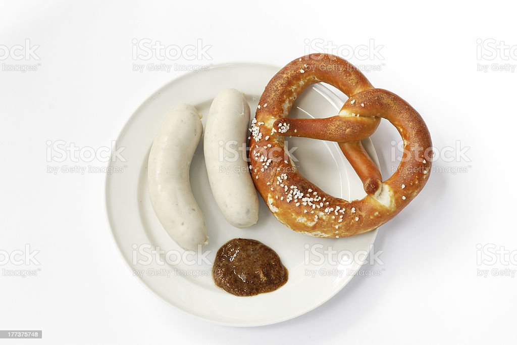 Bavarian Veal Sausage stock photo