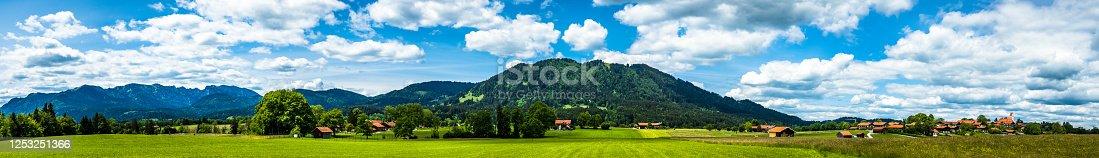 bavarian village wackersberg near bad toelz - germany
