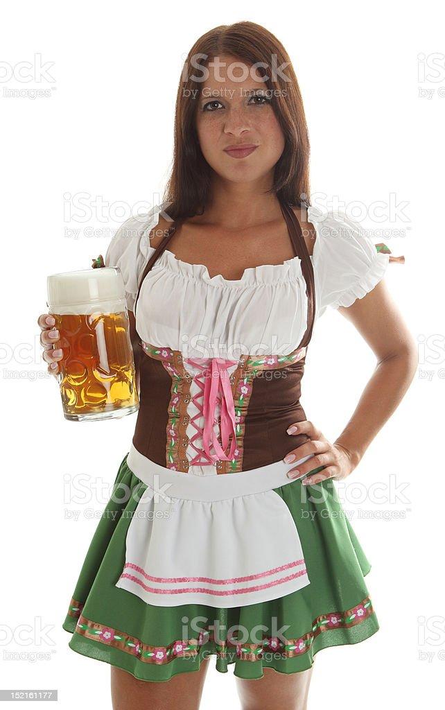 Bavarian Waitress royalty-free stock photo