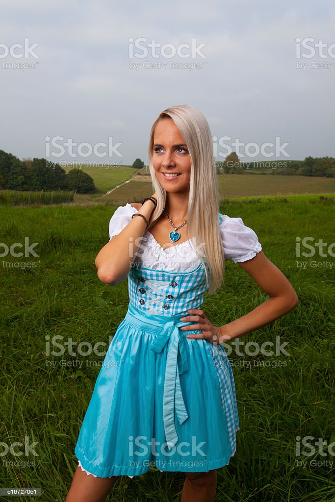 Bavarian Woman Outdoor Stock Photo - Download Image Now