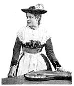 Bavarian zither player
