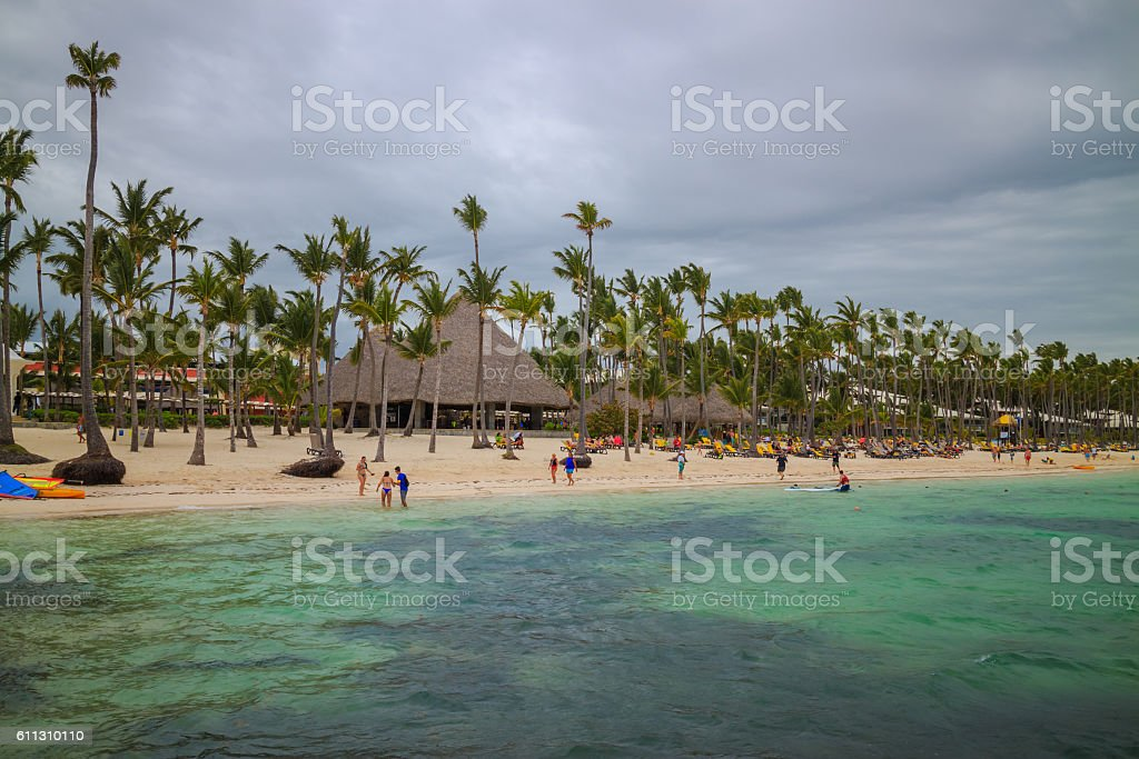 Bavaro beach in Punta Cana, Dominican Republic stock photo