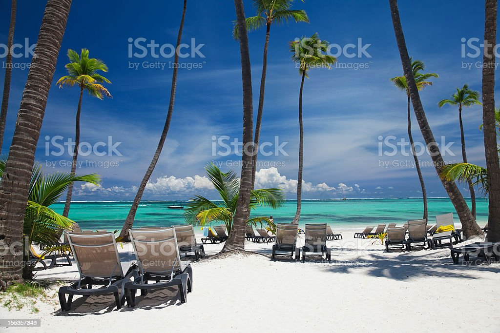 Bavaro beach in Punta Cana stock photo
