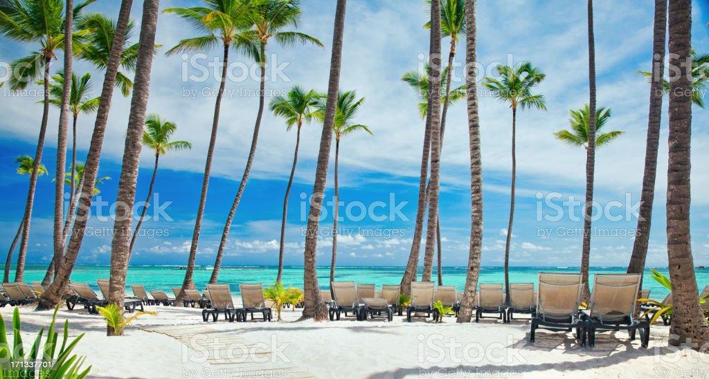 Bavaro beach in Punta Cana royalty-free stock photo