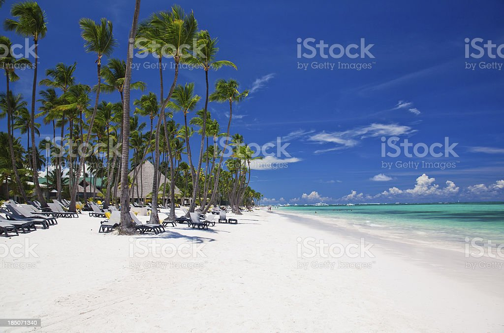 Bavaro beach in Punta Cana royalty-free stock photo