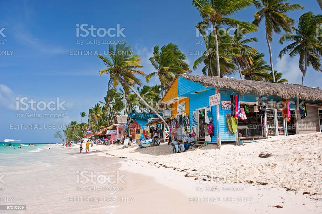 Bavaro beach in Punta Cana stock photo