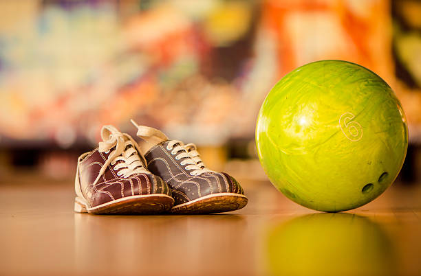 bawling ball and shoes stock photo