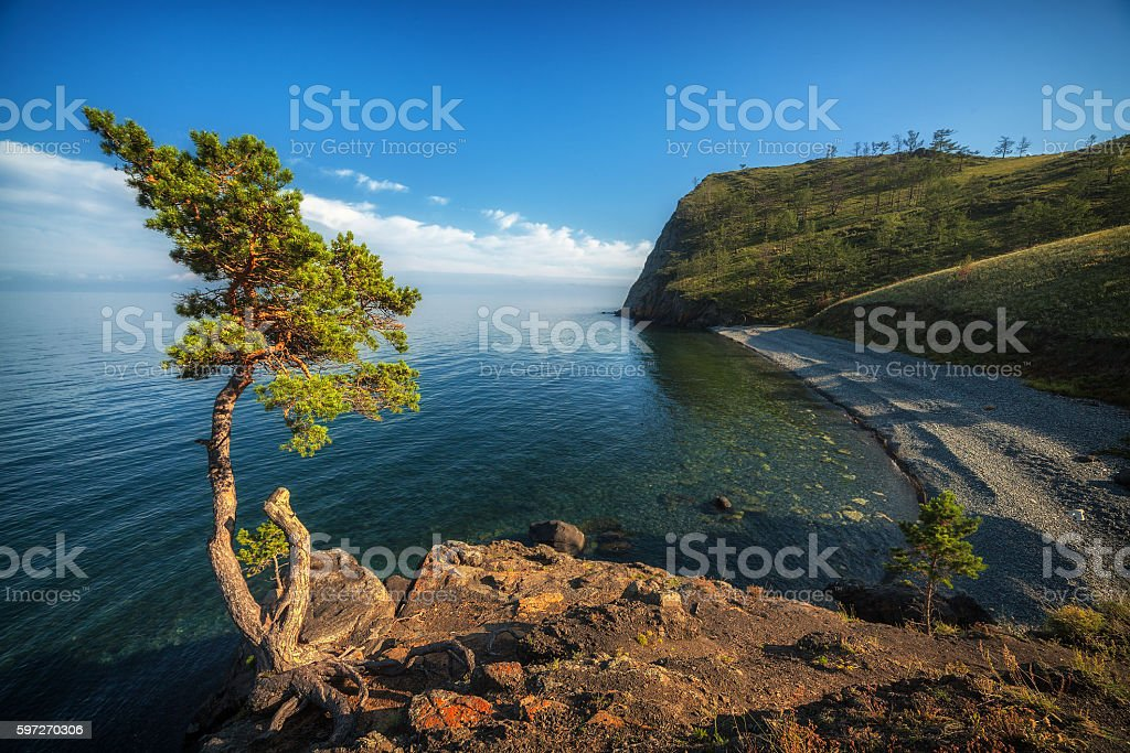 Bay at Baikal Lake, Russia photo libre de droits