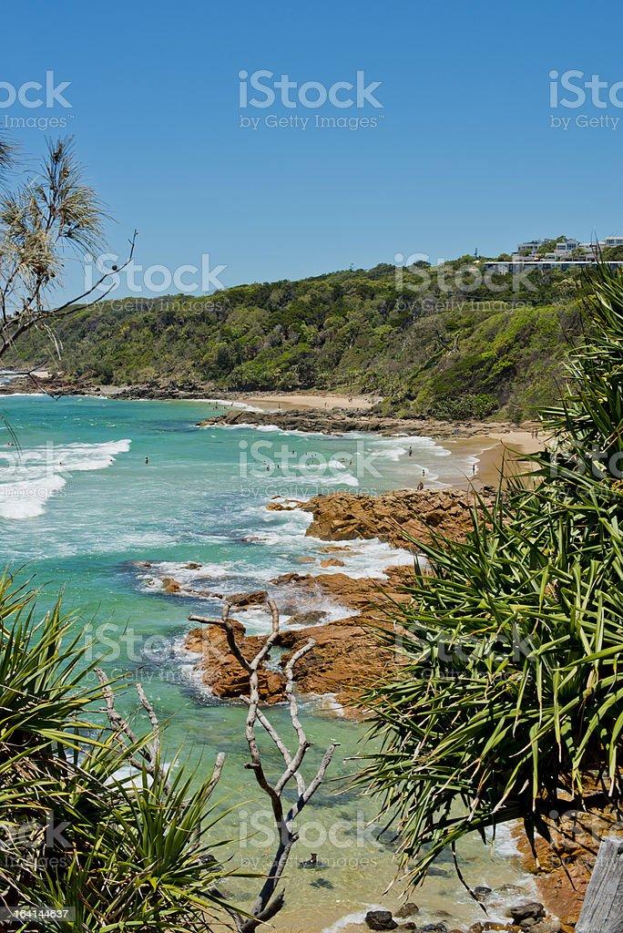 Bay at Coolum Sunshine Coast stock photo