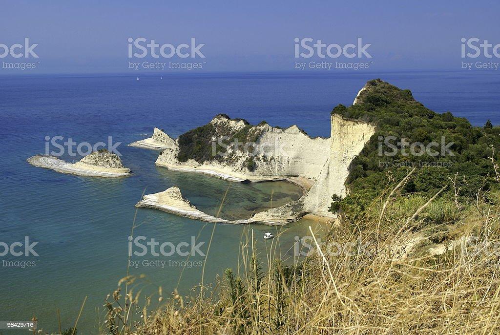 Bay at Corfu royalty-free stock photo
