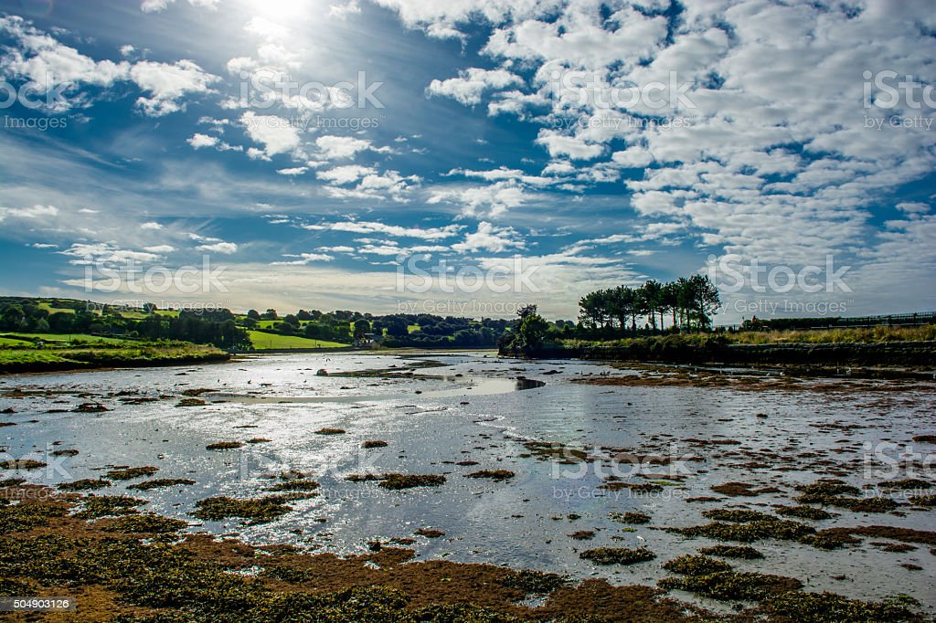 Bay at Low Tide in Clonakilty in Ireland stock photo