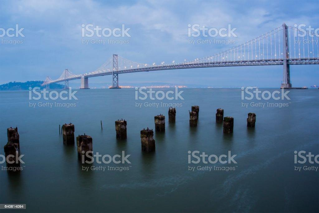 Bay Bridge At Sundown, San Francisco stock photo