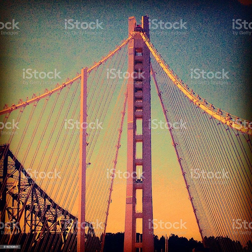 Bay Bridge Detail stock photo