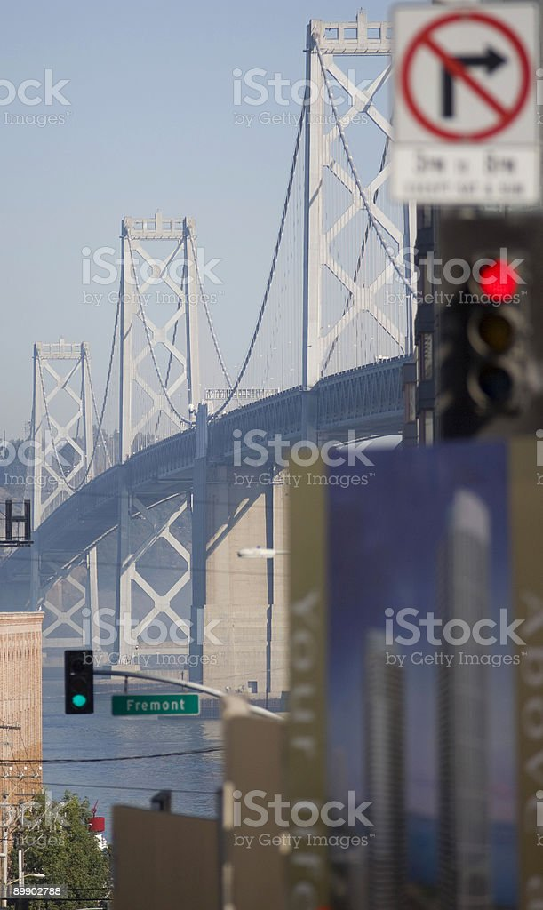 Bay Bridge from downtown royalty-free stock photo