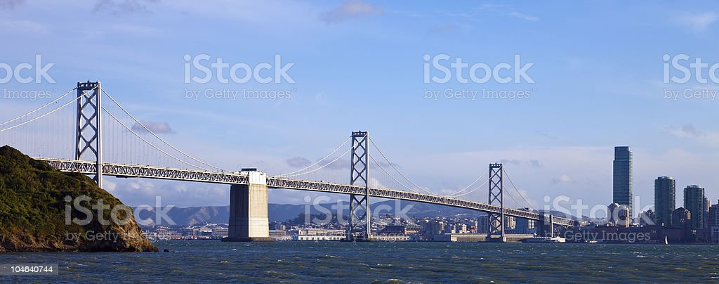 Bay Bridge Panorama royalty-free stock photo
